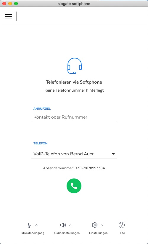 Telefonieren im Softphone