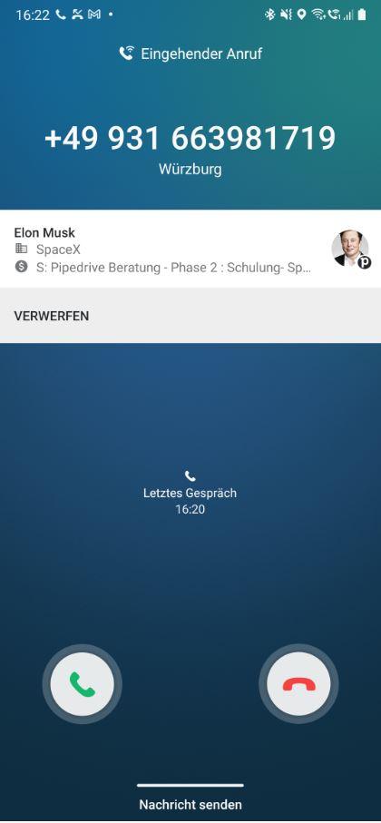 Elon Musk ruft an