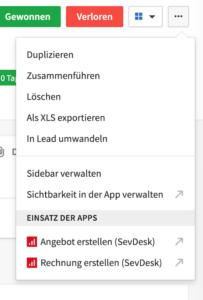 Integration sevDesk in Pipedrive